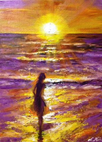 夕陽が海に沈むまで