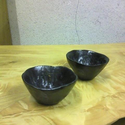 拭き漆栃古び小鉢(2個一組)