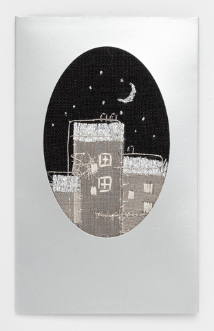 X67 X'masカード建物と月