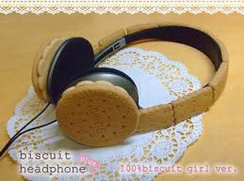 送料無料☆ビスケットヘッドフォン plus☆100%biscuit girl ver.
