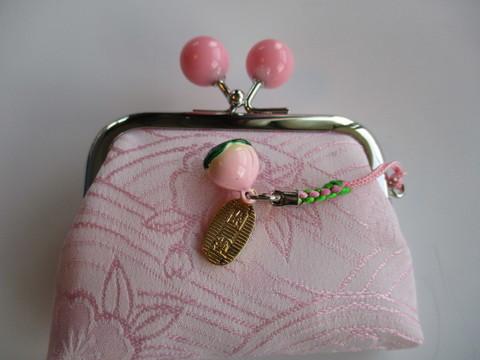 桜ジャガード織ちりめん小銭入れ