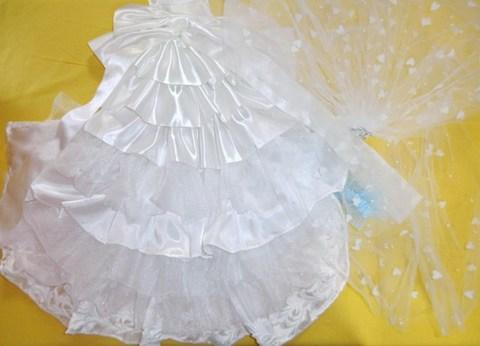 犬用ウエディングドレス(オーダーのみ) SS~Lサイズ  15000円~