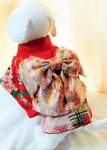 犬用お着物(正絹の着物と帯のセット)標準デザイン SS~Lサイズ 25000円~