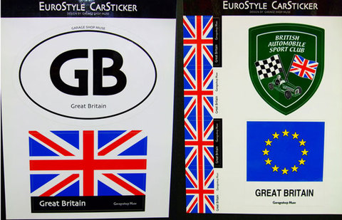 EURO STYLE CAR STICKER SET