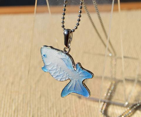 見上げる金魚 特殊銀コーティング仕様 空金魚