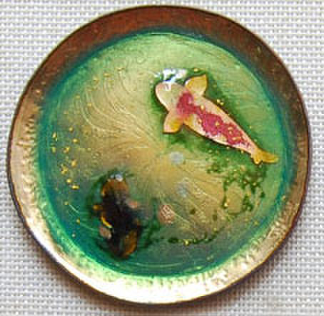 飾り小皿 鯉と黒金魚