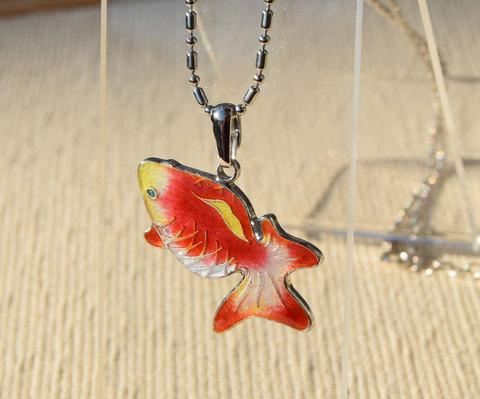 見上げる金魚 特殊銀コーティング仕様 更紗金魚