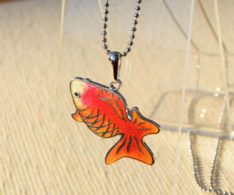見上げる金魚 特殊銀コーティング仕様 オレンジ金魚