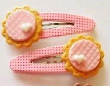 クッキーのピンクパッチンピン(左右セット)