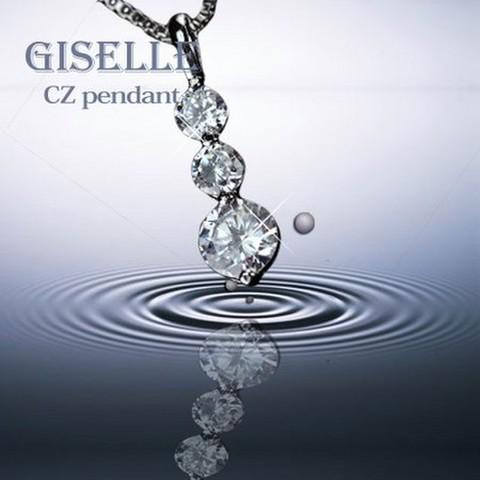 ベネチアチェーン CZダイヤモンドペンダント 「トリロジー」