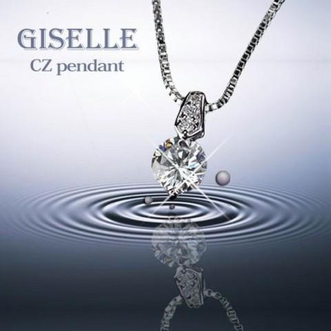 ベネチアチェーン CZダイヤモンドペンダント 「フィレンツェ」