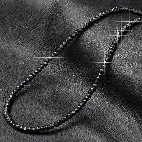 高品質天然ブラックスピネルネックレス