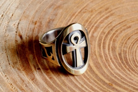 ANKH RING w/Side mark