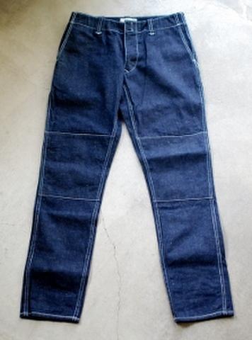 W knee pants ネップデニム