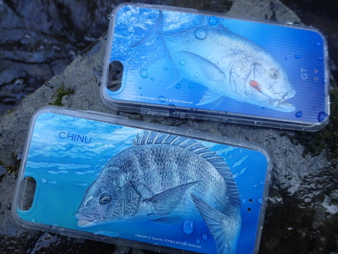 内田進iphone6アートコレクション「晴釣雨釣」黒鯛