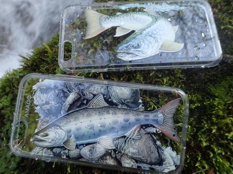 内田進iphone6アートコレクション「晴釣雨釣」岩魚