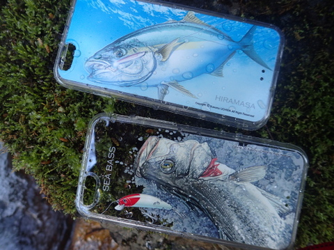 内田進iphone6アートコレクション「晴釣雨釣」シーバス
