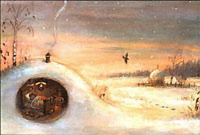 V.オリシヴァング画「ハリネズミと金貨」絵はがき ★H-No.4