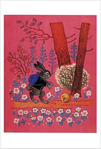 ワスネツォフ絵はがき「ロシアのわらべ歌・遊び歌」 ★V-No.19「おだんごぱん」