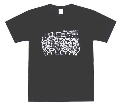 """カスチョールTシャツD T.マーヴリナ オリジナルイラスト""""7人の爺さんは7人の助っ人Семь стариков-семь помощников"""""""