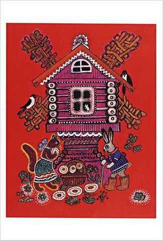 ワスネツォフ絵はがき「ロシアのわらべ歌・遊び歌」 ★V-No.10「ネコちゃん」