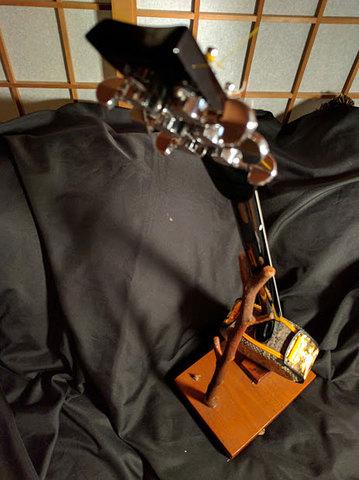 6弦ペグ三線・本皮強化張り