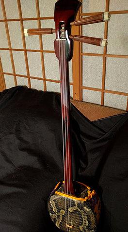 黒檀(カミゲン)本皮一枚張り・スンチー塗