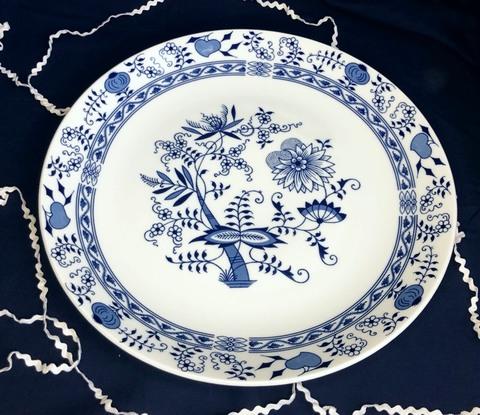 ブルーオニオン大皿 30cm