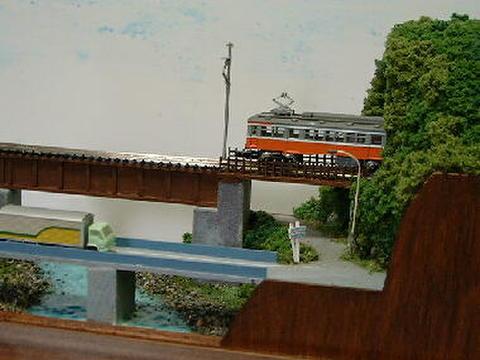 ミニらま14 川とトンネルのあるロ-カル線情景1