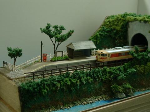 ミニらま21 トンネルを抜けるとそこは海辺の無人駅情景