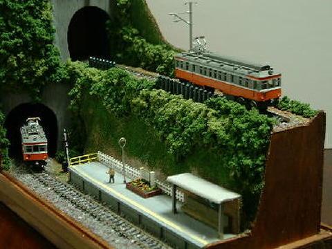 ミニらま4     山あいの小さな駅情景1