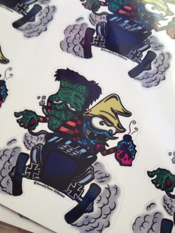 ☆HOTROD MONSTER STICKER☆