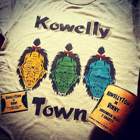 ☆KowellyTown×Vinny Shrunken Head STENCIL T-SHIRTS☆