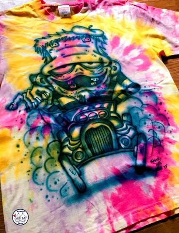 ☆Tiedye AirBrush T-shirts Franken (M)