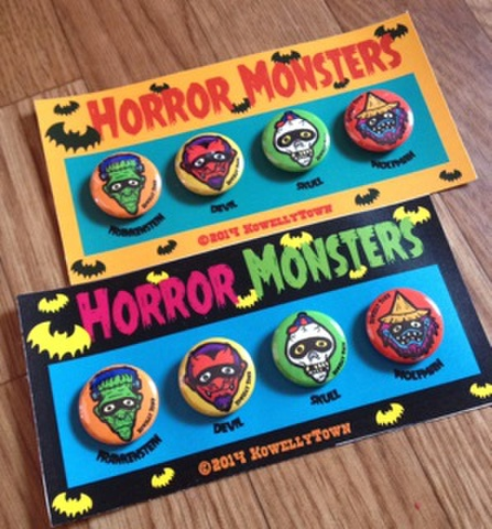 ☆HORROR MONSTER CANBADGE☆