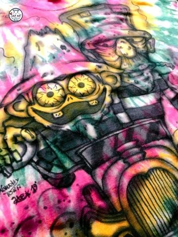☆Tiedye AirBrush T-shirts Hotrod (XL)☆