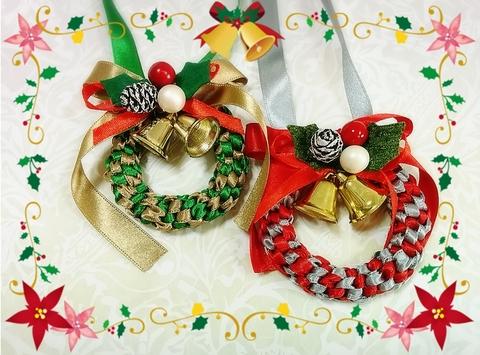 [初心者OK]クリスマスミニ・リース作り