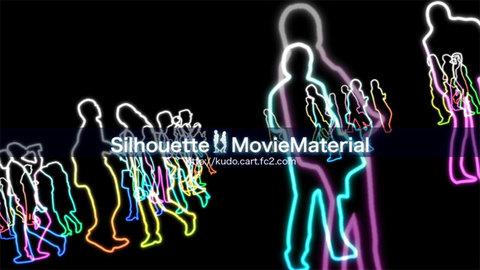シルエット CG動画素材集 Silhouette MovieMaterial ロイヤリティフリー(著作権使用料無料)