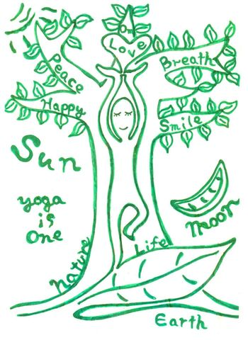 post card 【Yoga is One】