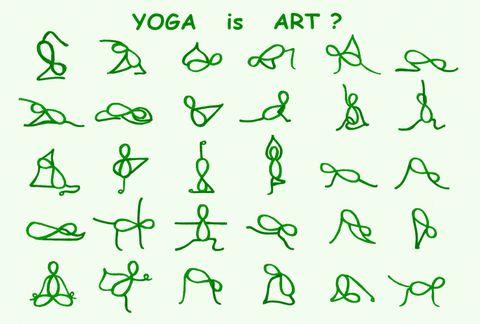 post card 【Yoga is ART?】