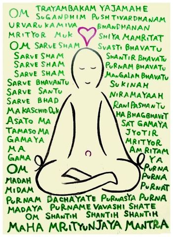 post card 【Maha Mrityunjaya Mantra】