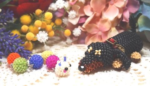 【あみぐるみのワンちゃん*Miniature Dachshund】
