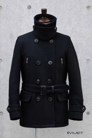 Motorcycle heavy melton coat