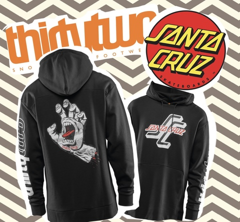 【THIRTY TWO】THIRTY TWO×SANTA CRUZ コラボモデル SANTA CRUZ HOODIE