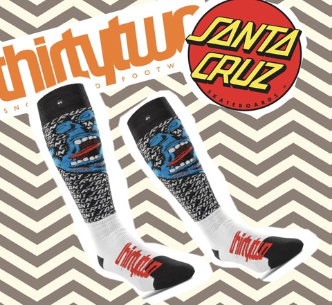 【THIRTY TWO】THIRTY TWO×SANTA CRUZ コラボモデル SANTA CRUZ SOCK