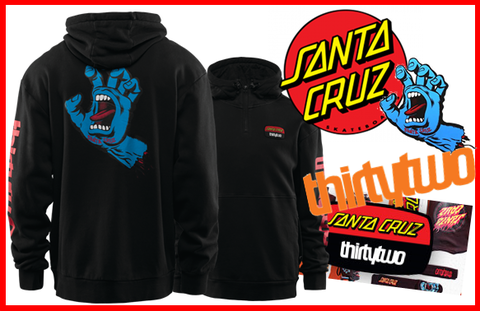 【THIRTY TWO】STAMPED HOODED PULLOVER  パーカー thirtytwo×SANTA CRUZ コラボモデル