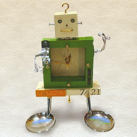 植木ヒトミ ロボット置時計