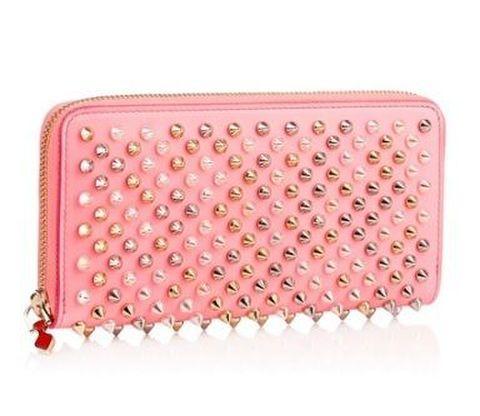 【ルブタン】Panettone Zipped Continental Pink 長財布