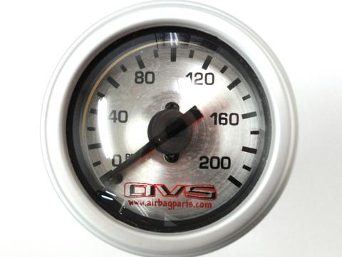 AVSエアゲージ デュアルニードル200PSI