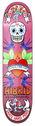 "HIBRIDskateboards ""SKATE HEART"""